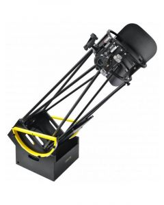 """10"""" (254mm) Truss Tube Dobsonian. 1270mm Focal length f/5. 2"""" two-speed focuser with 10:1 speeds. Deluxe Red-dot finder. Two lar"""
