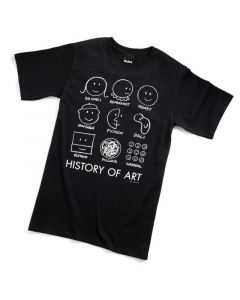 HISTORY OF ART TEE-ADULT SM-BK