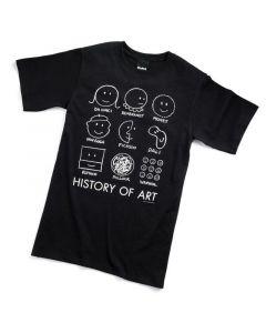 HISTORY OF ART TEE-ADULT MD-BK