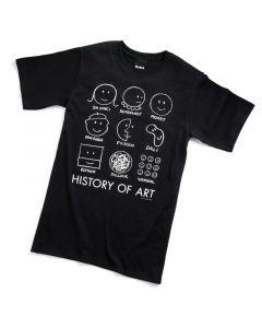 HISTORY OF ART TEE-ADULT LG-BK